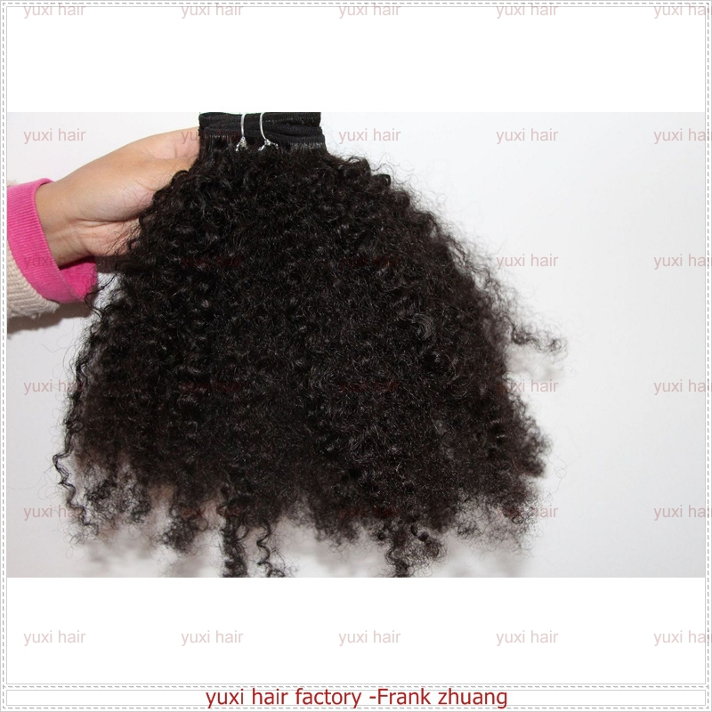 2015 Qingdao wholesale factory price brazilian 12 inch afro kinky human hair weave