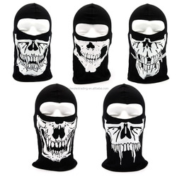 wholesale Multifunctional half skull face mask neck tube seamless custom running/motocycle /sport scarf bandana for printed