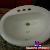 White Colored tempered glass bathroom sink, sink glass for bathroom price