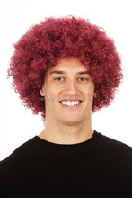 HW0073 men synthetic wigs, red wine synthetic wig, Afro-hair wig