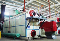 Water tube D type furnace diesel fired double steam boiler