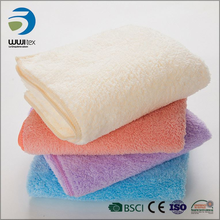 wholeslae coral fleece quick dry face used promotion towel gift
