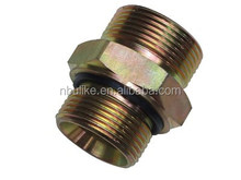 Metric male 24 degree cone seat straight thread bite type tube hydraulic fitting