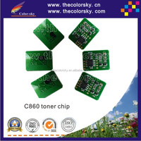 (TY-OC860) smart toner cartridge reset chip for OKI C860 C 860 44059216 44059213 44059214 44059215 9.5K 10k free shipping by dhl