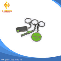 top quality cheap custom various small shape cut out metal keychain