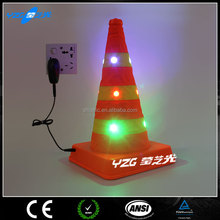 protable LED light waterproof Traffic cone Orange Traffic Cone Economy Type PVC Traffic Cone