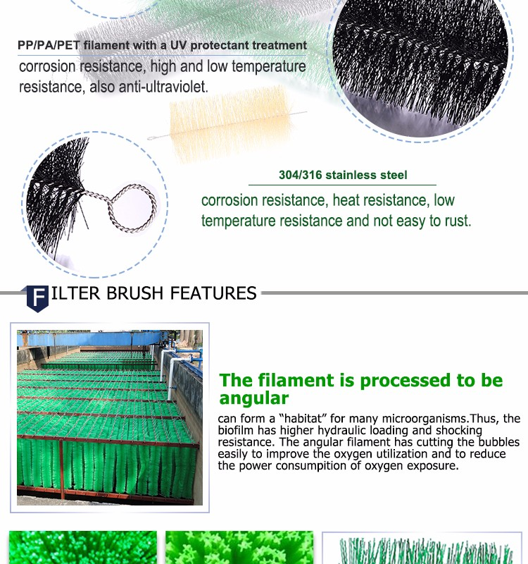 Aquarium Fish Farm and Koi Pond Filter Brushes Nylon Twisted