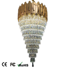 New decoration long chandelier crystal, big chandelier light, hotel lobby chandelier