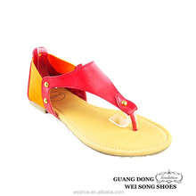 hot selling wholesale fashion flat summer lady flat shoes sandal for