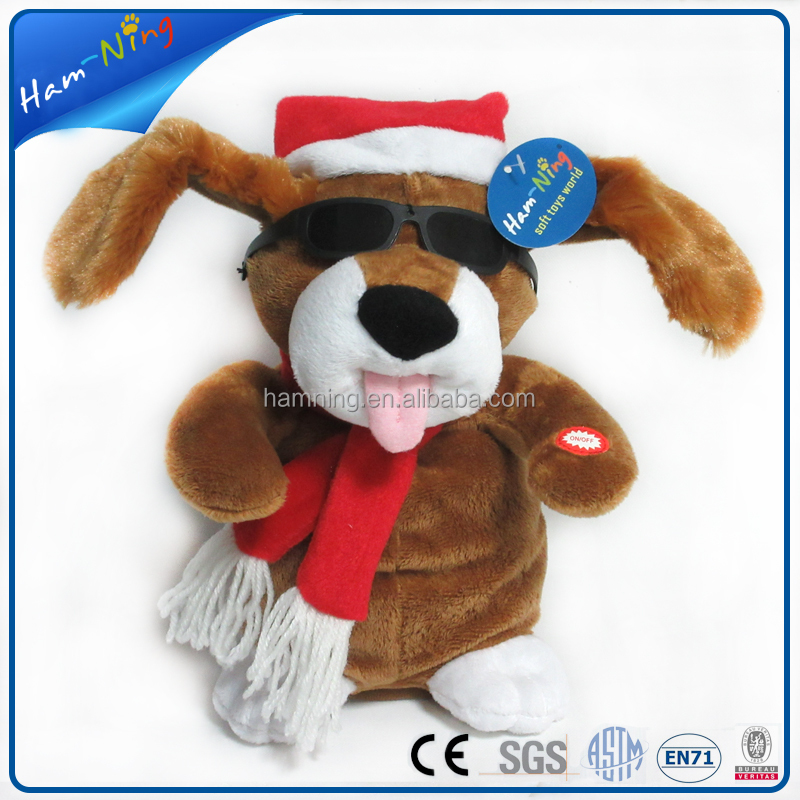 23cm handmade animated plush squeaky christmas dog toys