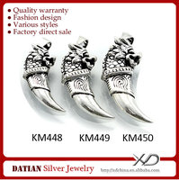 XD KM448-450 Full Sizes 925 Sterling Silver Fashion Design Wolf Pendants Charms