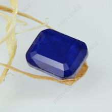 Emerald cut imitation sapphire gemstones wholesale price
