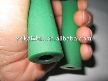 TPU extruded green tube , Rough round surface pipe