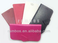 2013 New With Sucker&Card Slots Universal Smart Phone Wallet Style Leather Case