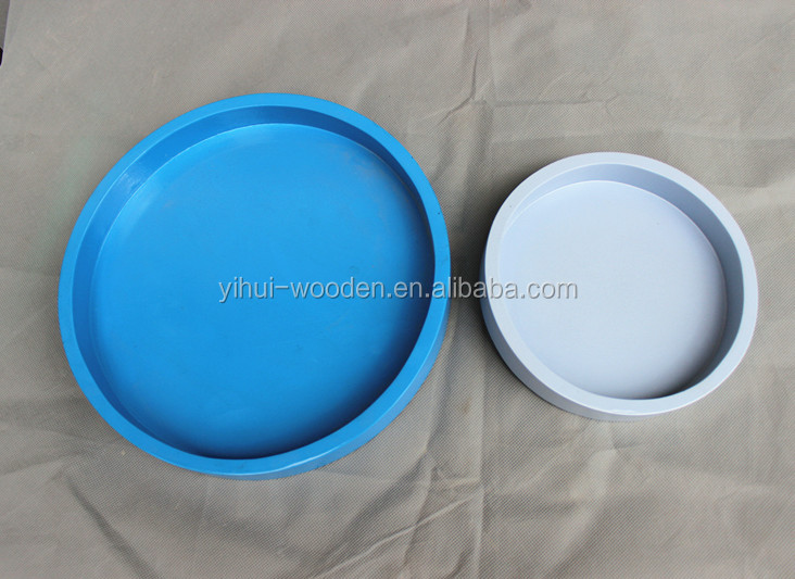 2016 round unfinished wooden tray wholesale