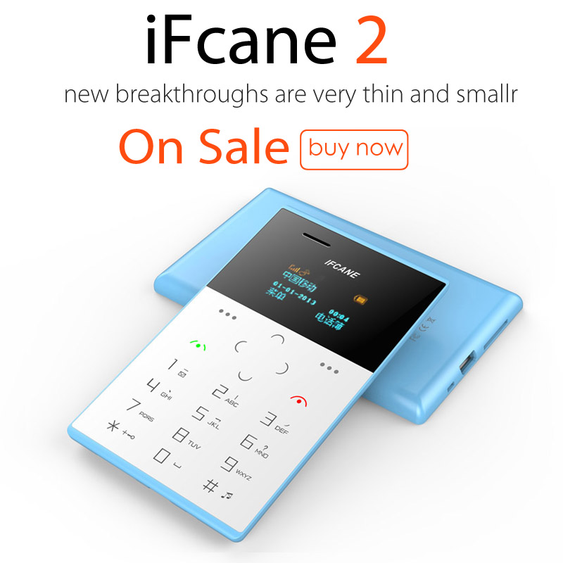 Hot Sale 1 Inch Screen Card Size IFcane E2 Very Small Size Cute Mobile Phone