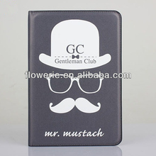 FL2834 2013 Guangzhou hot selling uncle sam hat leather flip case for ipad mini