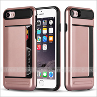 Smooth Handfeeling PC+TPU Card Case For Iphone 7,Back Cover For Iphone7