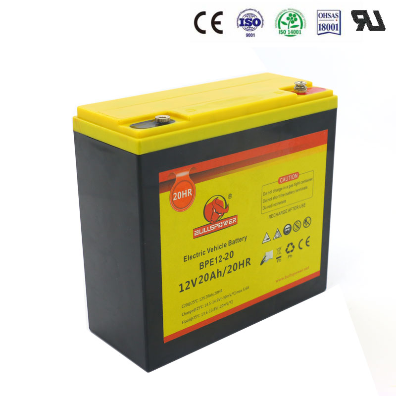 6-DZM-20 24v 48v 12v 20ah e-bike sealed lead acid battery electtric bike battery