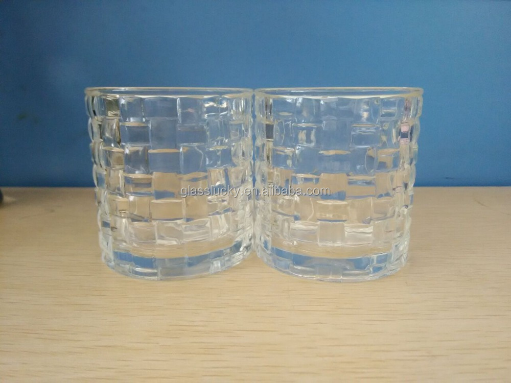 Wholesale glass cup candle containers glass cup for candle