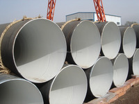 Spiral steel pipes used for dredging project