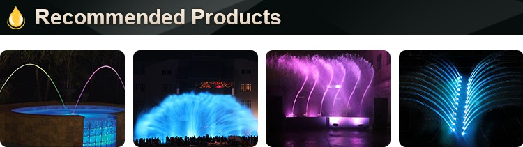 Musical control outdoor water fountain for hotel decoration