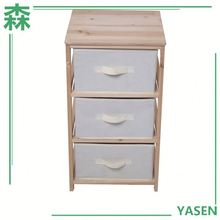 Yasen Houseware Ready To Assemble Solid Wood Drawer Cabinet Furniture, Wood Furniture