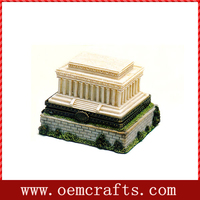 Lincon Monument Washington DC Resin Hinged Trinket Box