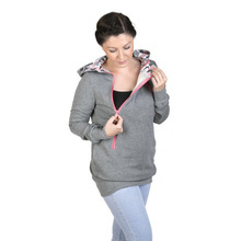 Pregnant women winter clothes funnel neck maternity sweater wholesale