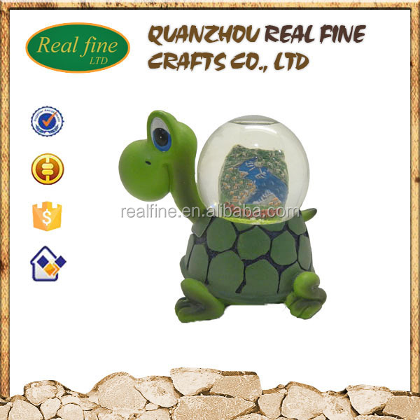 High Quality Personalized Resin Turtle Snow Globes