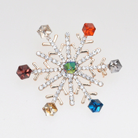 Wholesale wedding jewelry christmas style wholesale fashion crystal rhinestone snowflake brooch