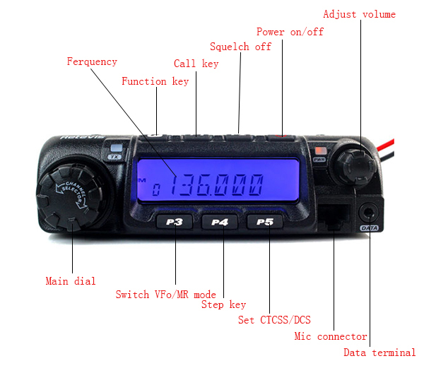 New VHF 136-174MHz 60W 200CH 50 CTCSS/1024 DCS 8 Group's Scrambler VOX Scan Retivis RT-9000D remote skill Mobile Car Ham Radio
