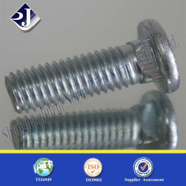 ansi/asme b18.5 carriage bolt mushroom head screw flat head carriage bolt