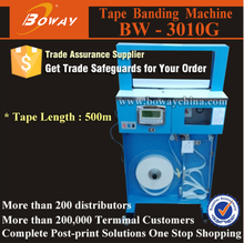 Vertical OPP film and Paper Tape Automatic money binding machine