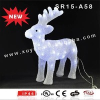 Acrylic outdoor LED light up standing reindeer
