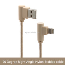 90 Degree Left Right Angle 8 Pin USB Fast Charging Data Sync cable for iphone