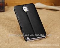 hot selling leather case for samsung galaxy note 3 man flip case