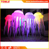 hot selling outdoor jellyfish inflatable hanging LED lighting decoration
