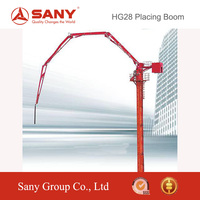 SANY HG28 28m Mobile Stationary Concrete Placing Boom for Sale