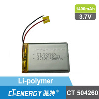 1400mAh Lithium Polymer Battery For Cordless Lithium Phone CT504260
