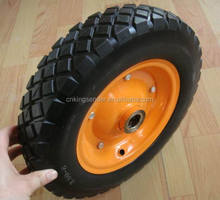 Anti loose air heavy load solid rubber wheel for wheelbarrow wheel tyre