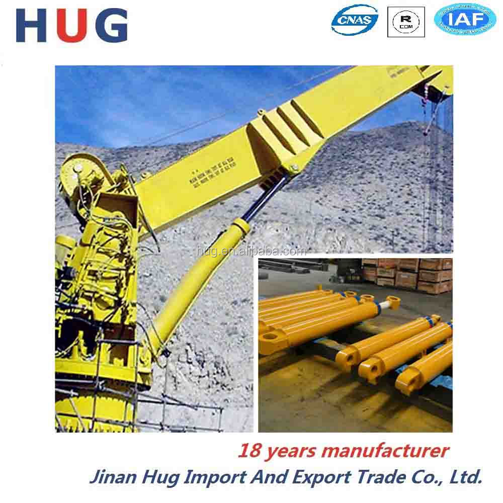 Outdoor large lifting equipment boom hydraulic cylinder