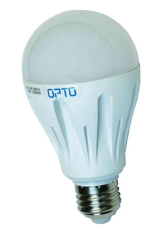 12W Die-Cast Aluminum E27 LED Light Bulb