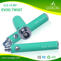 LUXCIGS best seling products evod twist battery ecig kit with mini protank 2 evod vaporizer pen