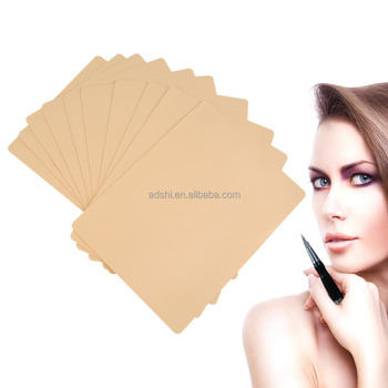 Permanent Makeup Eyebrow Lips 20 x 15cm Blank Tattoo Practice Skin Sheet for Needle Machine Supply Kit