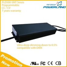 500W Outdoor Constant Current Constant Voltage Led Driver with 0-10V /PWM / Rset / Clock / DMX Dimming