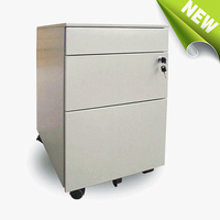 Furniture factory 3 drawer office mobile pedestal with heavy loading plastic pedestal