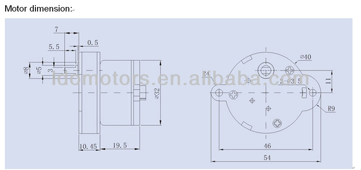40mm 12v dc motor with gearbox (Ce,Rohs)