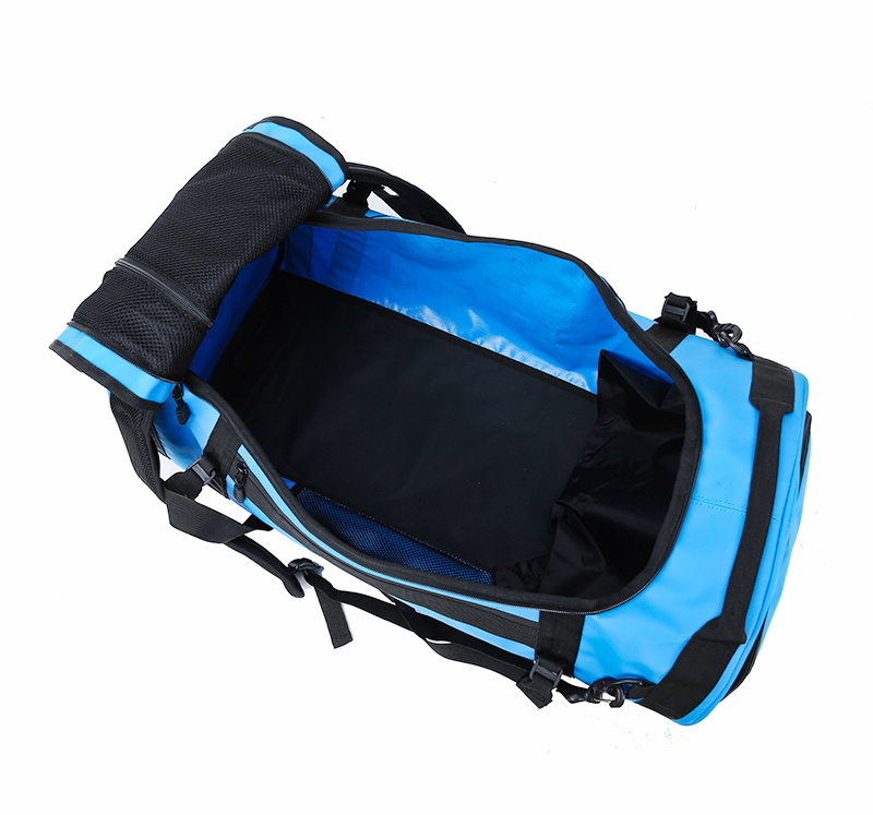 Custom 85L Large Capacity 3 Ways Travel Duffel Bag 1000D PVC Tarpaulin Duffle Backpack