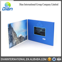 Hot selling lcd video brochure card with low price